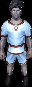 Gnomeballer's kit (sky blue) equipped