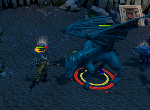 Killing blue dragons