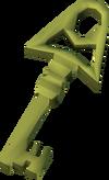 Ragged gold key detail