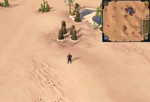 Scan clue Kharidian Desert north-west of Uzer Mastaba