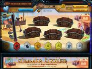 Treasure Hunter Summer Sizzler interface