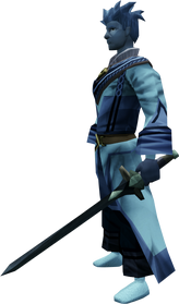 Off-hand bathus longsword equipped