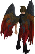 Armadyl wings equipped