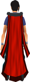 Battlefield cape (red) equipped