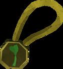 One-leaf clover necklace detail