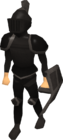 Black trimmed armour set (lg) equipped old