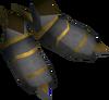Warpriest of Saradomin boots detail