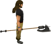Iron halberd equipped
