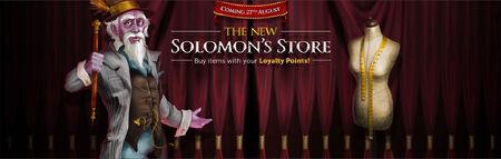 Solomon Store merge banner