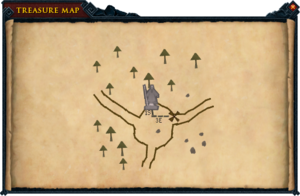 Map clue Falador statue crossroads