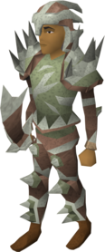 Sacred clay equipment set (melee) equipped