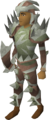 Sacred clay equipment set (melee) equipped.png
