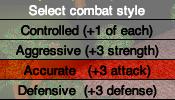 Combat selector