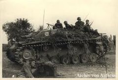 StuG III with riders