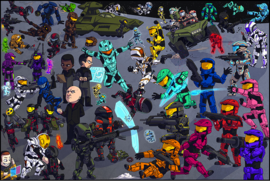RvB Cute Characters Poster
