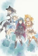 Team RWBY (RWBY Official Japanese Fanbook, Illustration,Miggy)