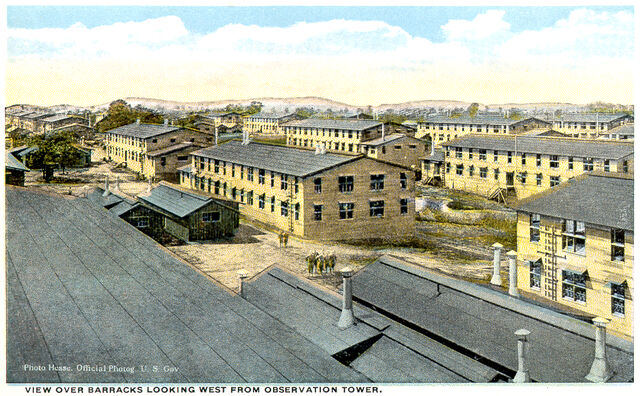 File:View Over Barracks Looking West From Observation Tower.jpg