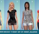 Non-Default T-shirt Set by Sweet Malinshi