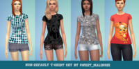 Non-Default T-shirt Set by Sweet Malinshi