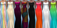 8 Double Diamond Dress Recolours by The Simsperience