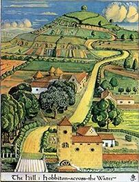 250px-J.R.R. Tolkien - The Hill - Hobbiton-across-the-Water (Colored) (1)