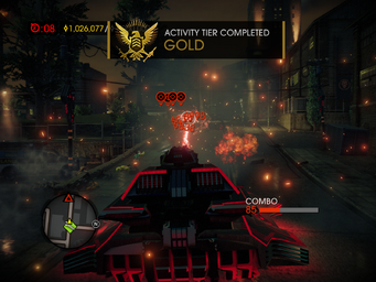 Tank Mayhem - Gold Activity Tier Completed in Saints Row IV