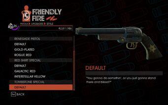 SR4 Quickshot Pistol Tombstone Special