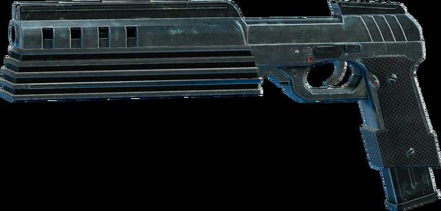 File:SRIV SMGs - Rapid-Fire SMG - Cyborg Pistol - Default.png