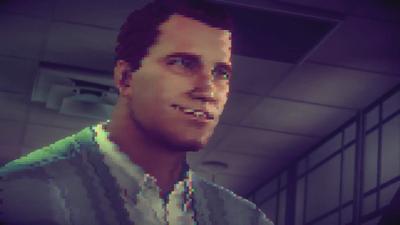 A Pleasant Day - glitched civilian face
