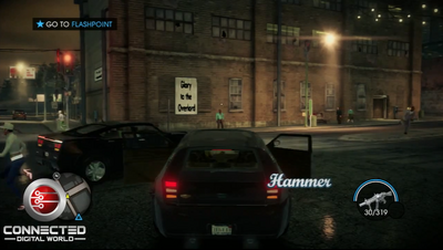 Hammer - rear with logo in Saints Row IV pre-release gameplay