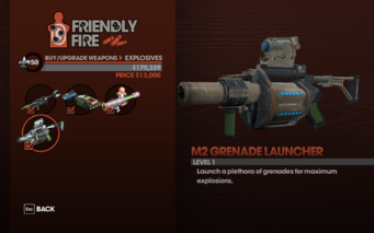 M2 Grenade Launcher - Level 1 description