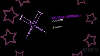 Insurance Fraud complete in Saints Row The Third