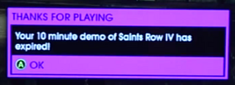 10 minute demo limit