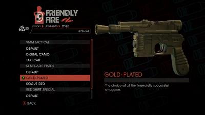 Weapon - Pistols - Quickshot Pistol - Renegade Pistol - Gold-Plated