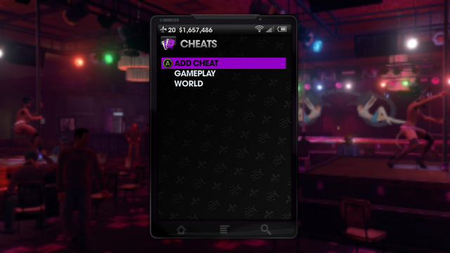 File:Cheats menu in Saints Row The Third.png