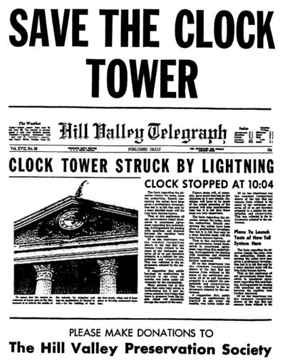 A Pleasant Day - Back to the Future save the clock tower original flyer