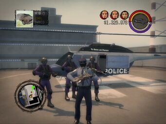 Oppressor - Police variant on helipad at Police Headquarters with AR-50 w Grenade Launcher