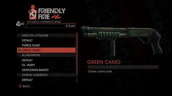 Weapon - Shotguns - Pump-Action Shotgun - Deacon 12-Gauge - Green Camo