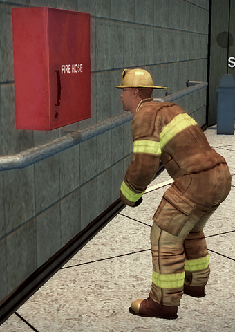 File:Fireman - yellow helmet - performing inspection.png