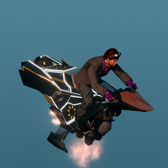 Saints Row The Third DLC vehicle - Ultor Interceptor - hover - angle