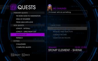 Quests Menu - Shaundi's List