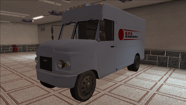 File:Saints Row variants - Delivery Truck - BPS - front left.png