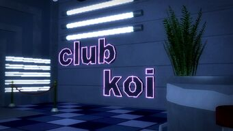 Club Koi - interior sign