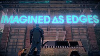 Imagined As Edges sign in Saints Row IV