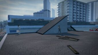 Charred Hard Burgers - Stilwater Boardwalk rooftop
