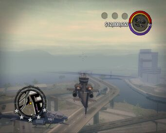 SWAT Tornado in flight in Saints Row 2