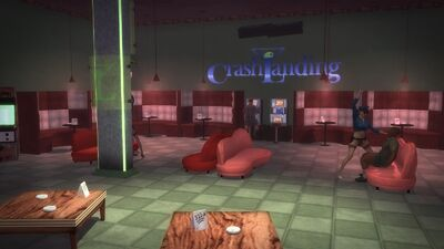 Crash Landing - main floor and seating with gambling machines