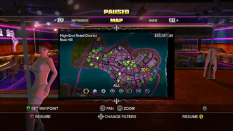 Map interface in Saints Row