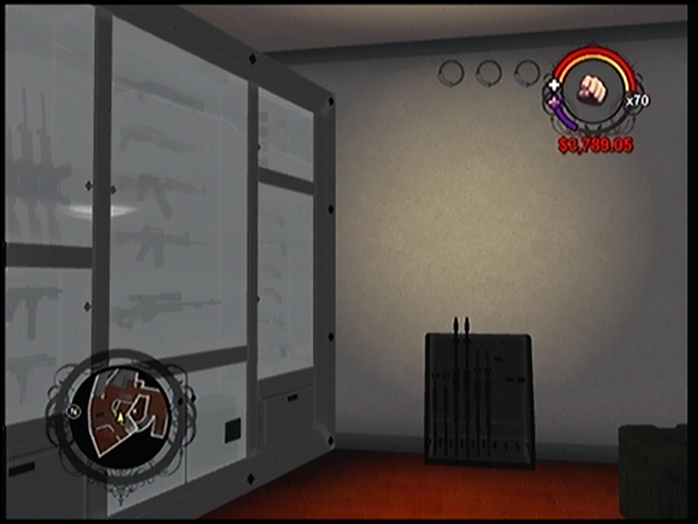 File:The weapons cache in Anthony's condo in Saints Row.png