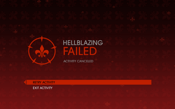 Gat out of Hell - Hellblazing fail screen